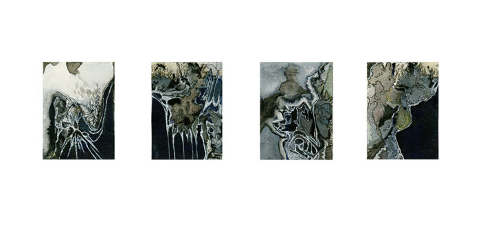 Nibiru Tetraptych painting